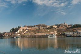 Белградската крепост от западния бряг на река Сава
