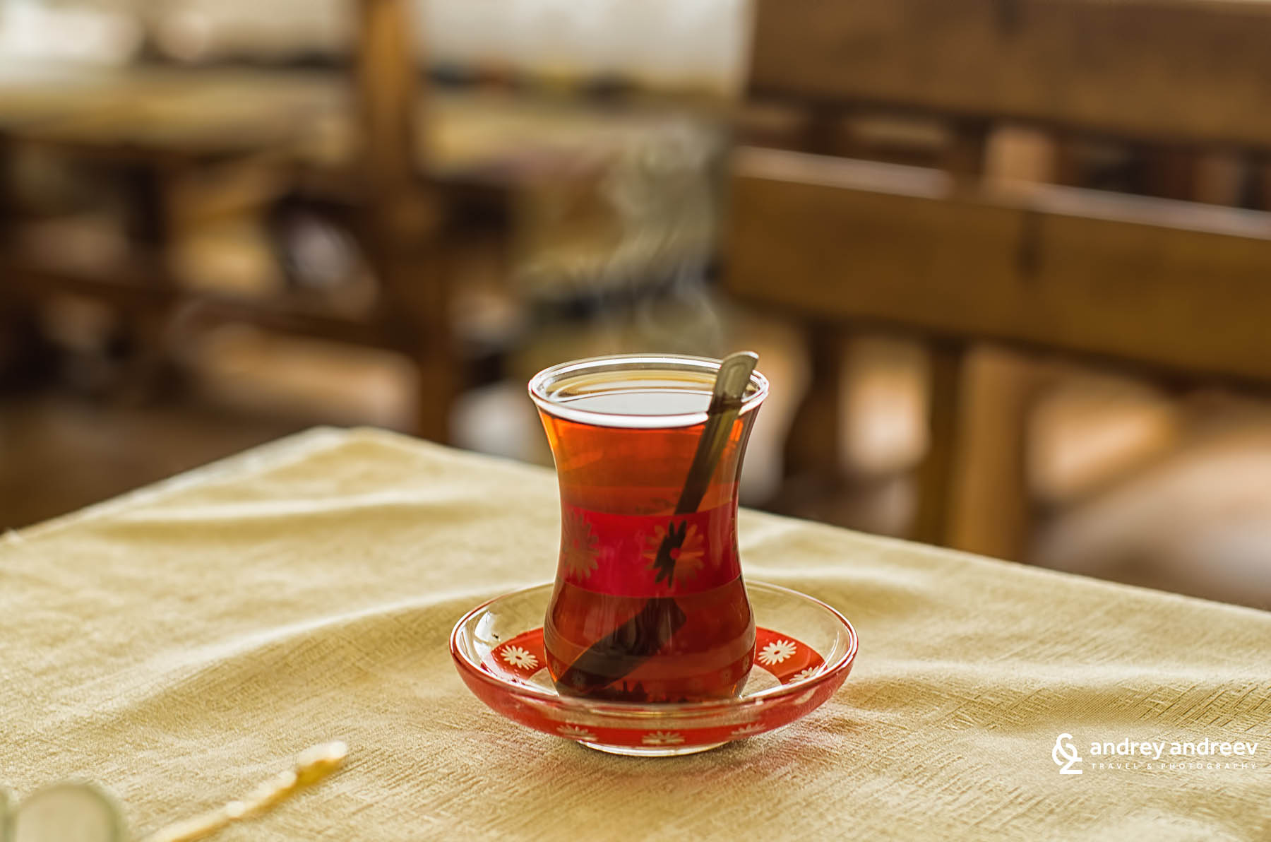 Turkish tea in typical Turkish glasses