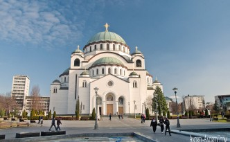 "the Serbian cathedral ""St. Sava"" . Катедрала ""Св. Сава"""