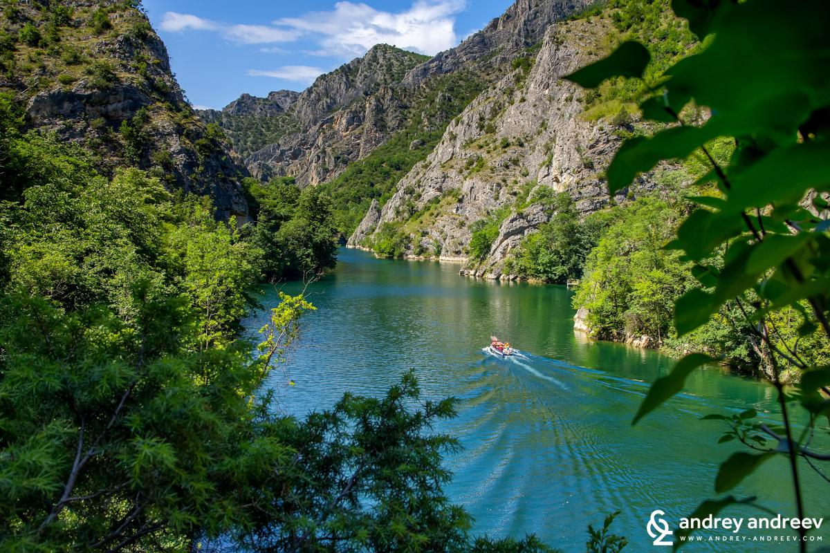 The stunning beautiful canyon Matka, Macedonia