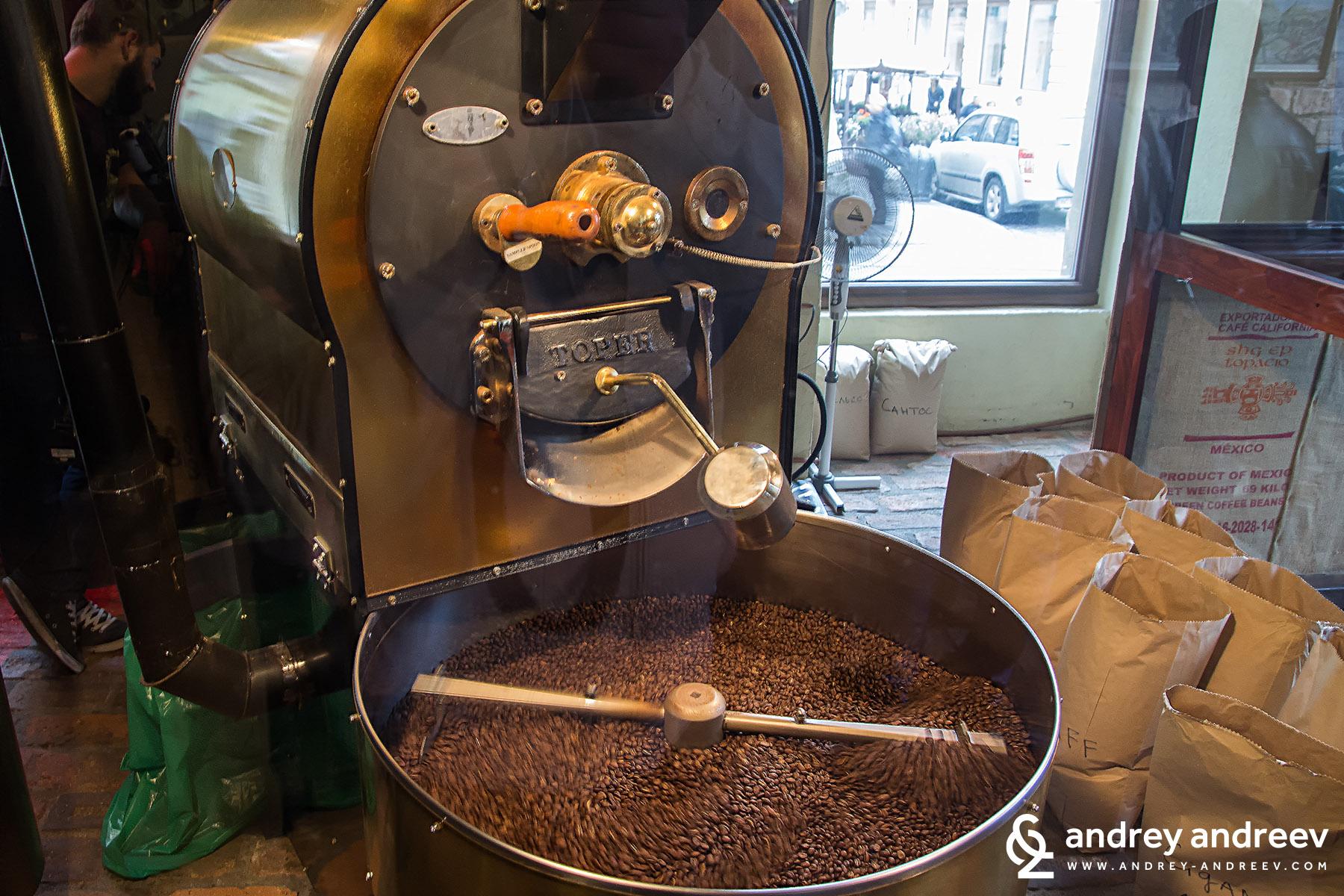 Печене на кафе в Лвов, Украйна