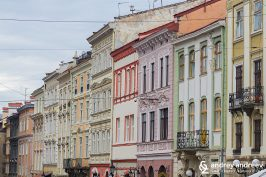 Lviv, Ukraine - the buildings at Rynok square (Market square)