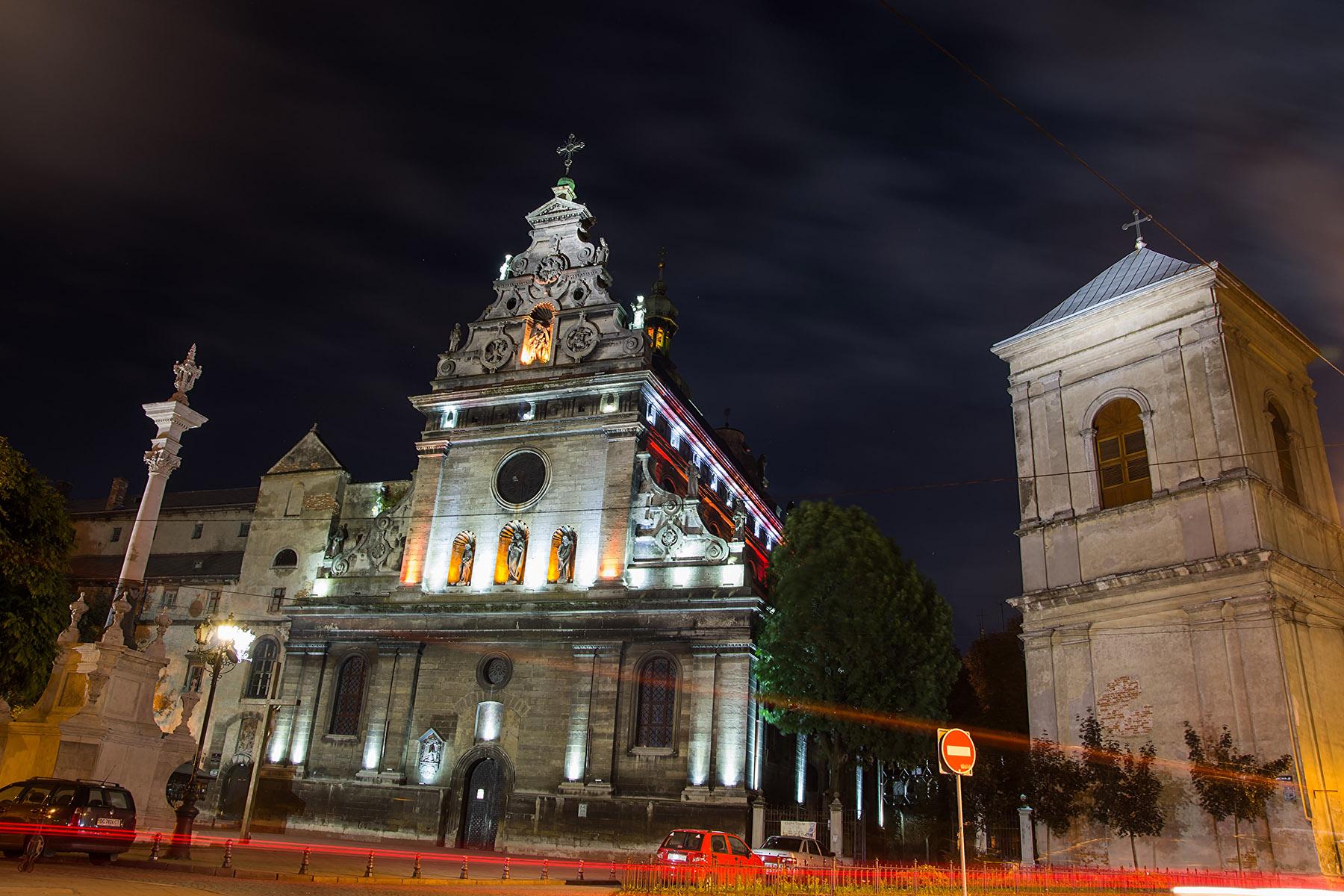 """Бернардинския манастир и църквата """"Св. Андрей"""" в Лвов, Украйна"""