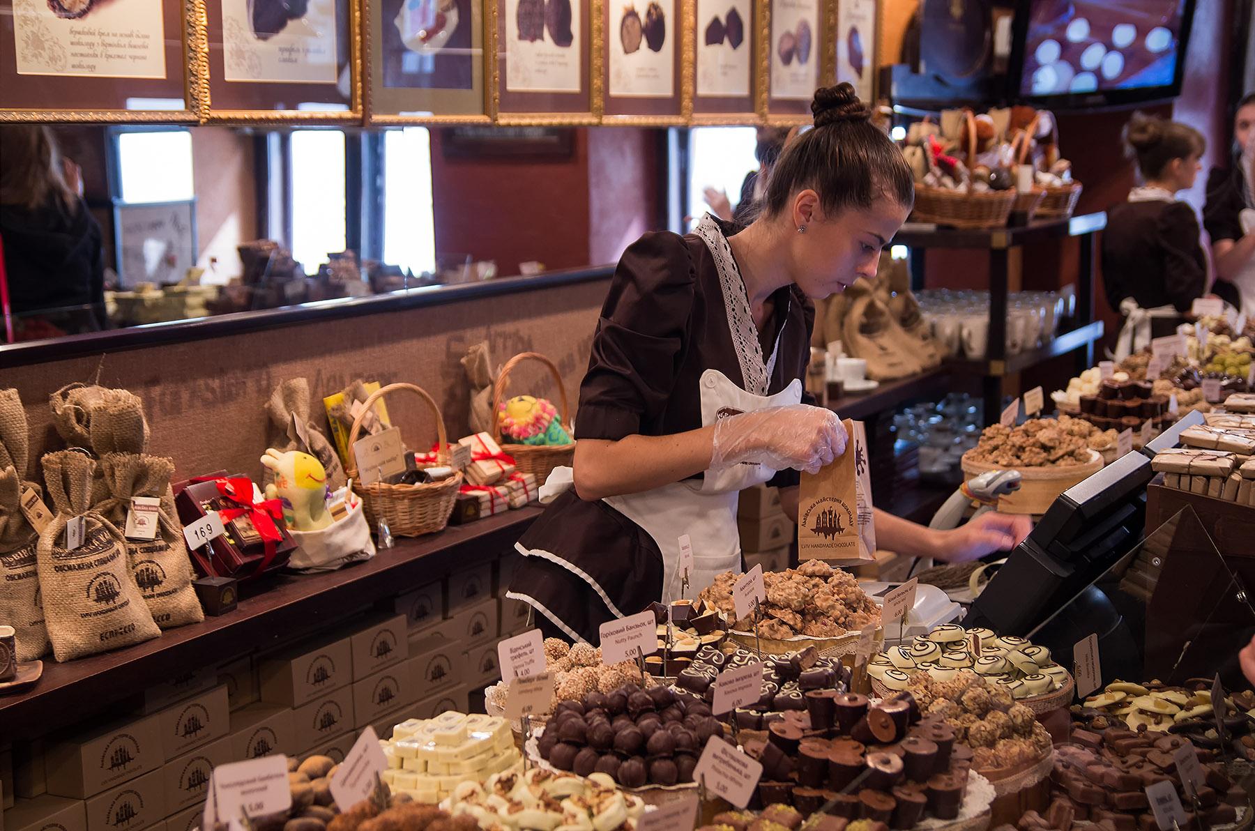 Шоколадовите бонбони