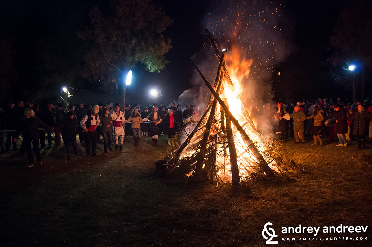 Запалената ритуална клада