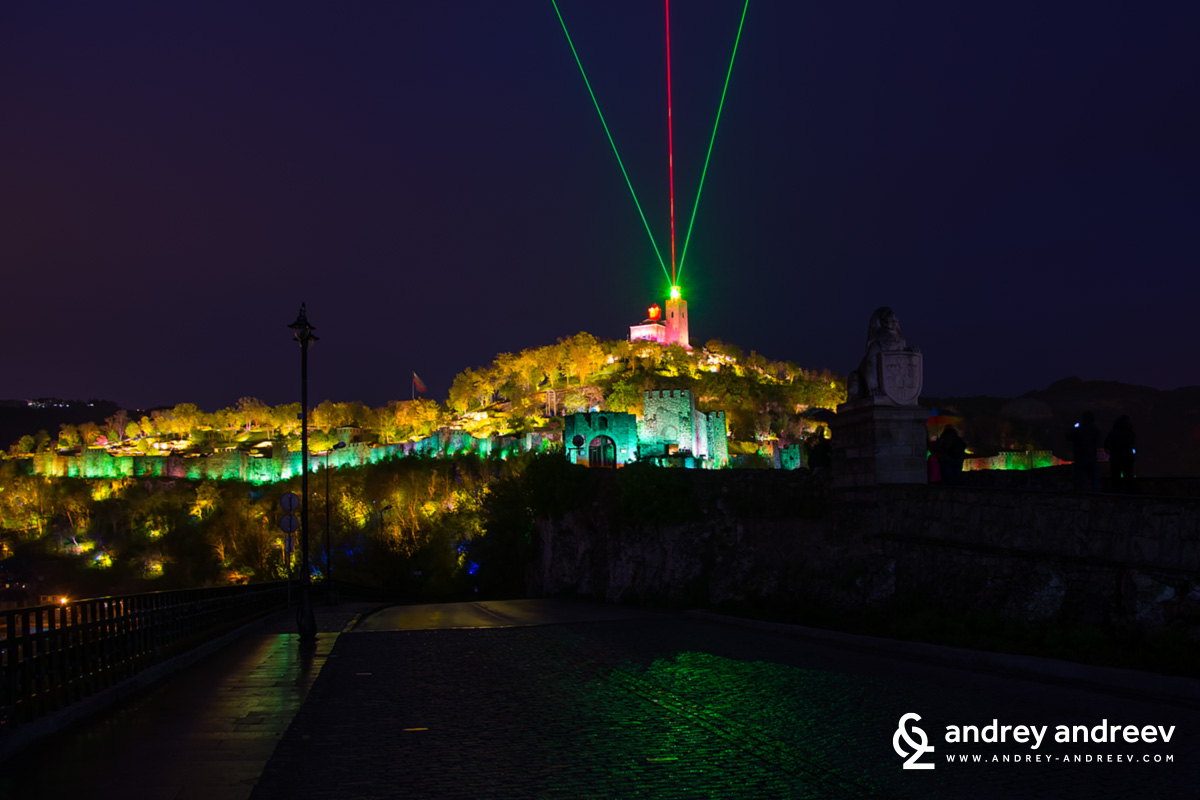 The Sound and Light show on Tsarevets hill