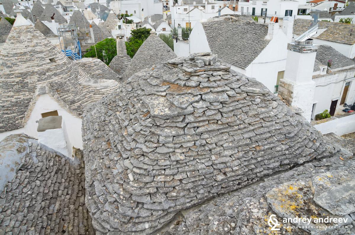 Покриви на трули в Алберобело