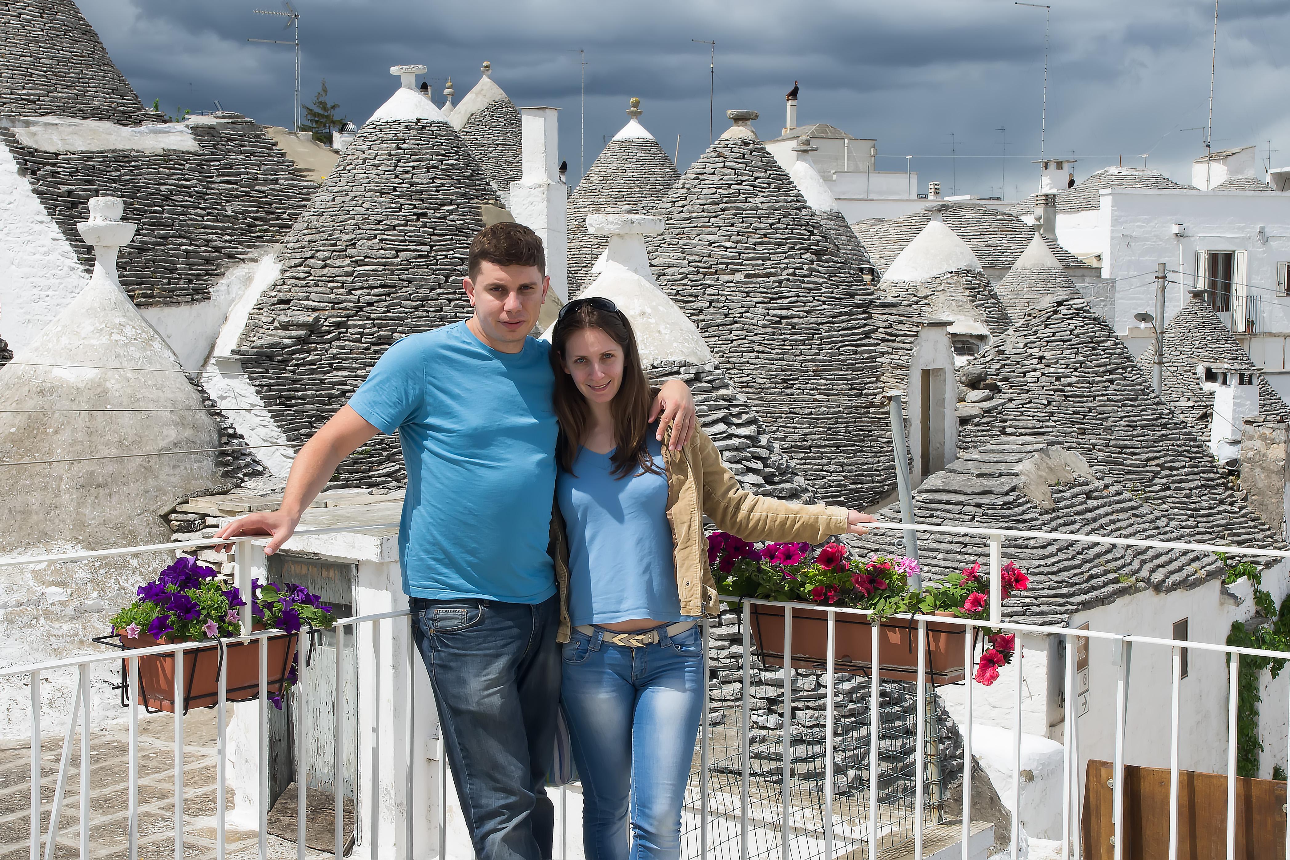 Андрей и Мария в Алберобелло