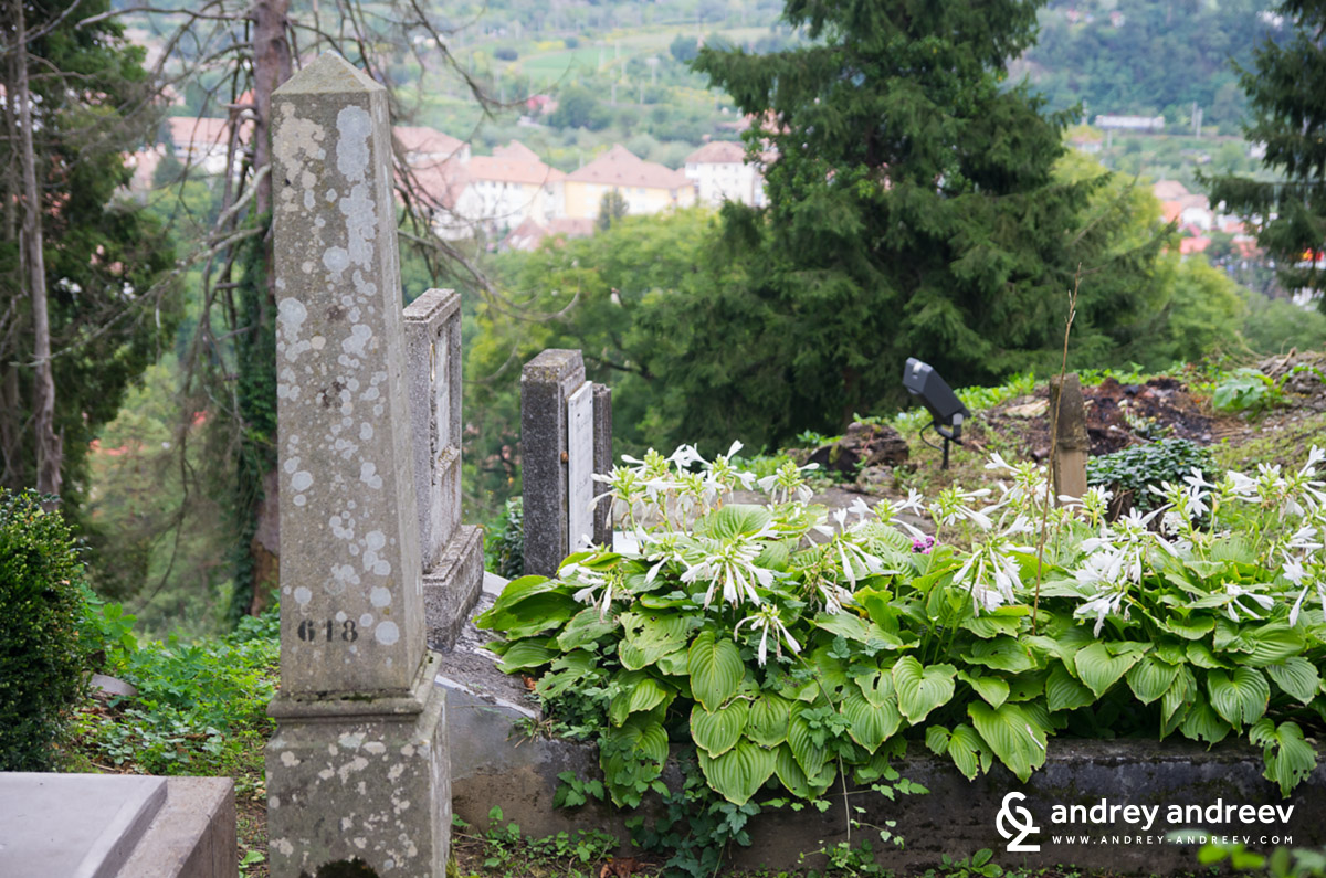 the cemetery in Sighisoara