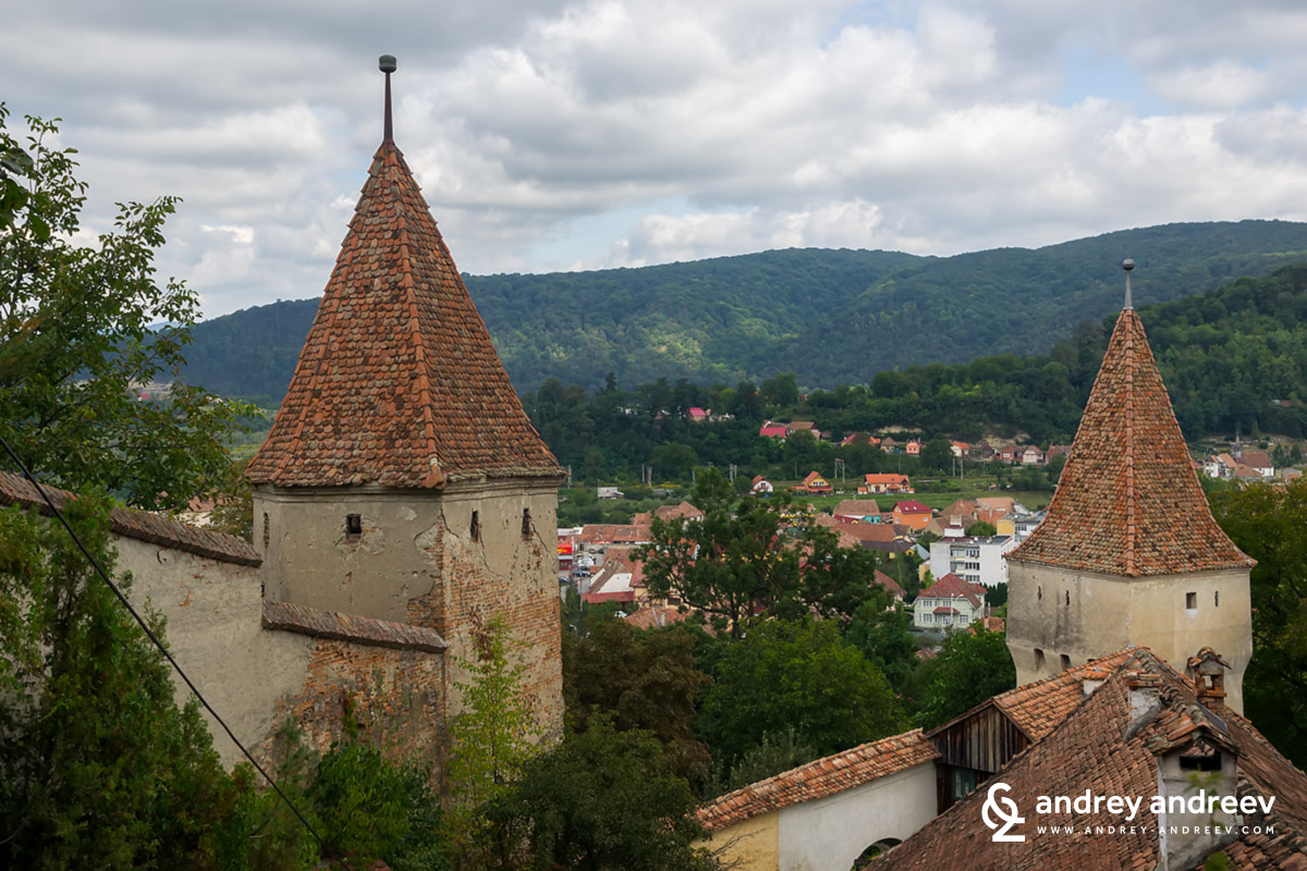 Towers of Sighisoara citadel, Transylvania, Romania