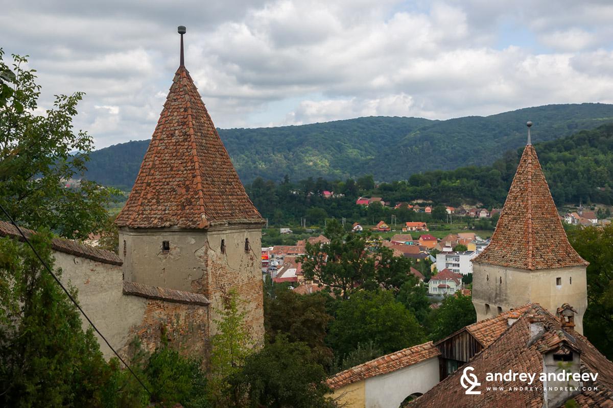 Кули в Сигишоара Румъния, цитадела в Румъния