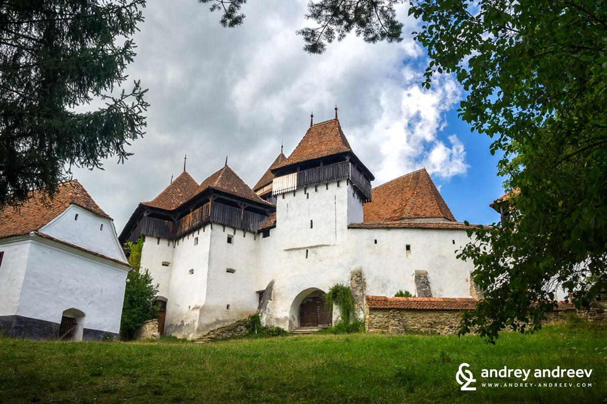 The fortified church in Viscri, Romania