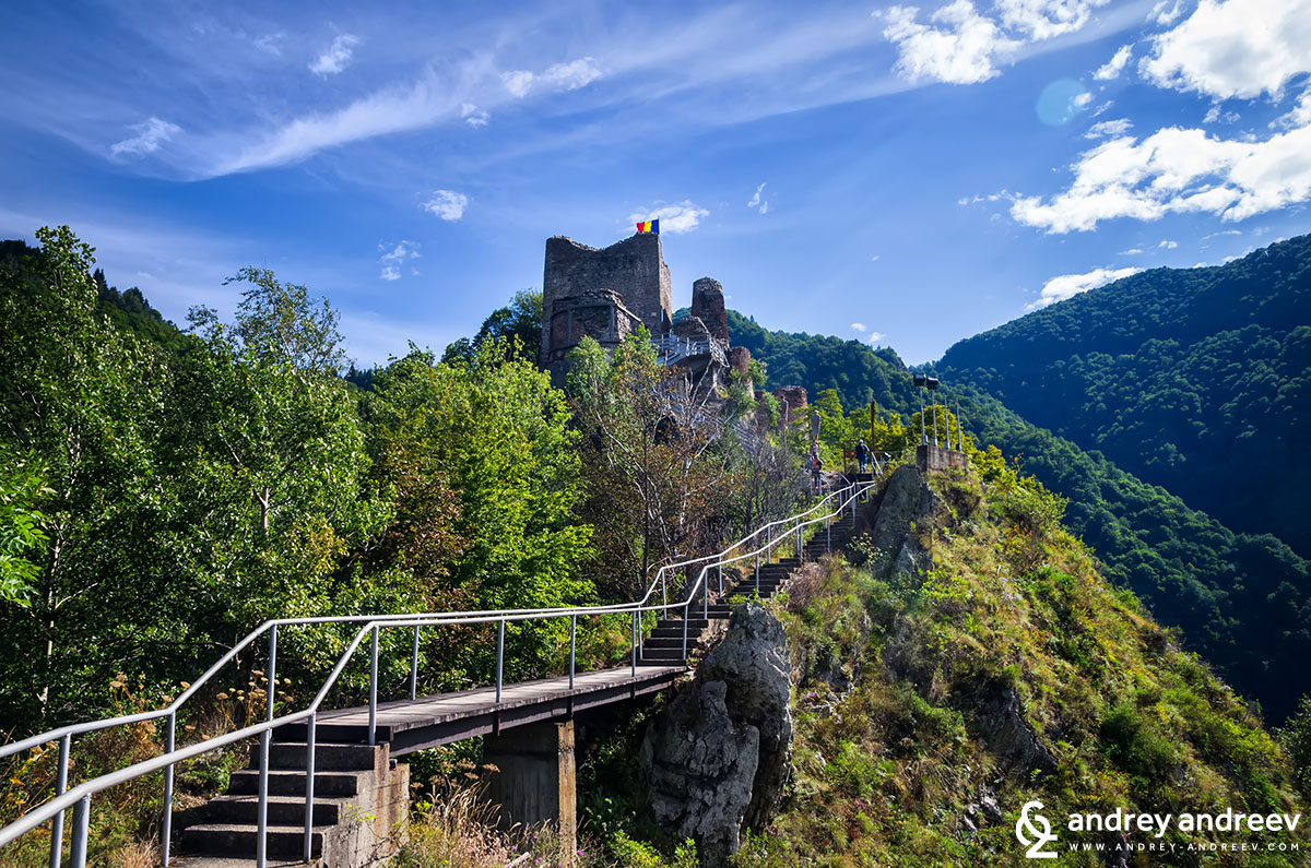 The stairs to Poenari castle
