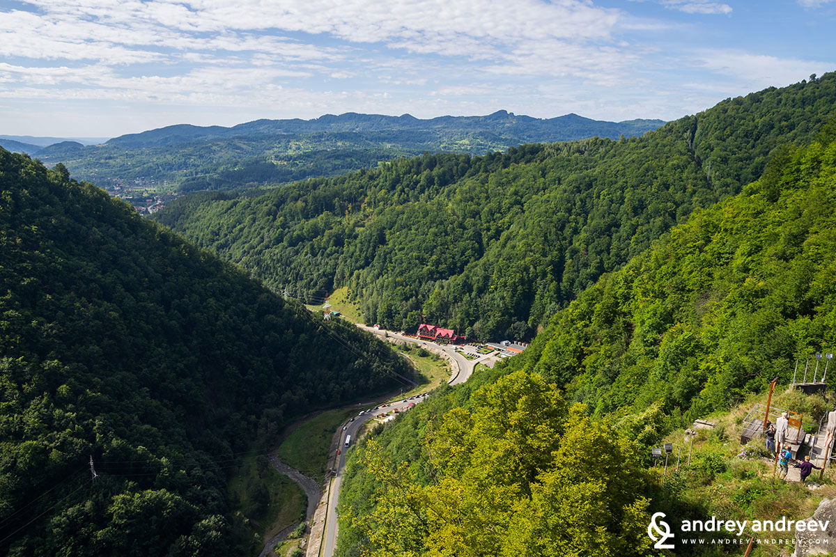 View from Poenari fortress
