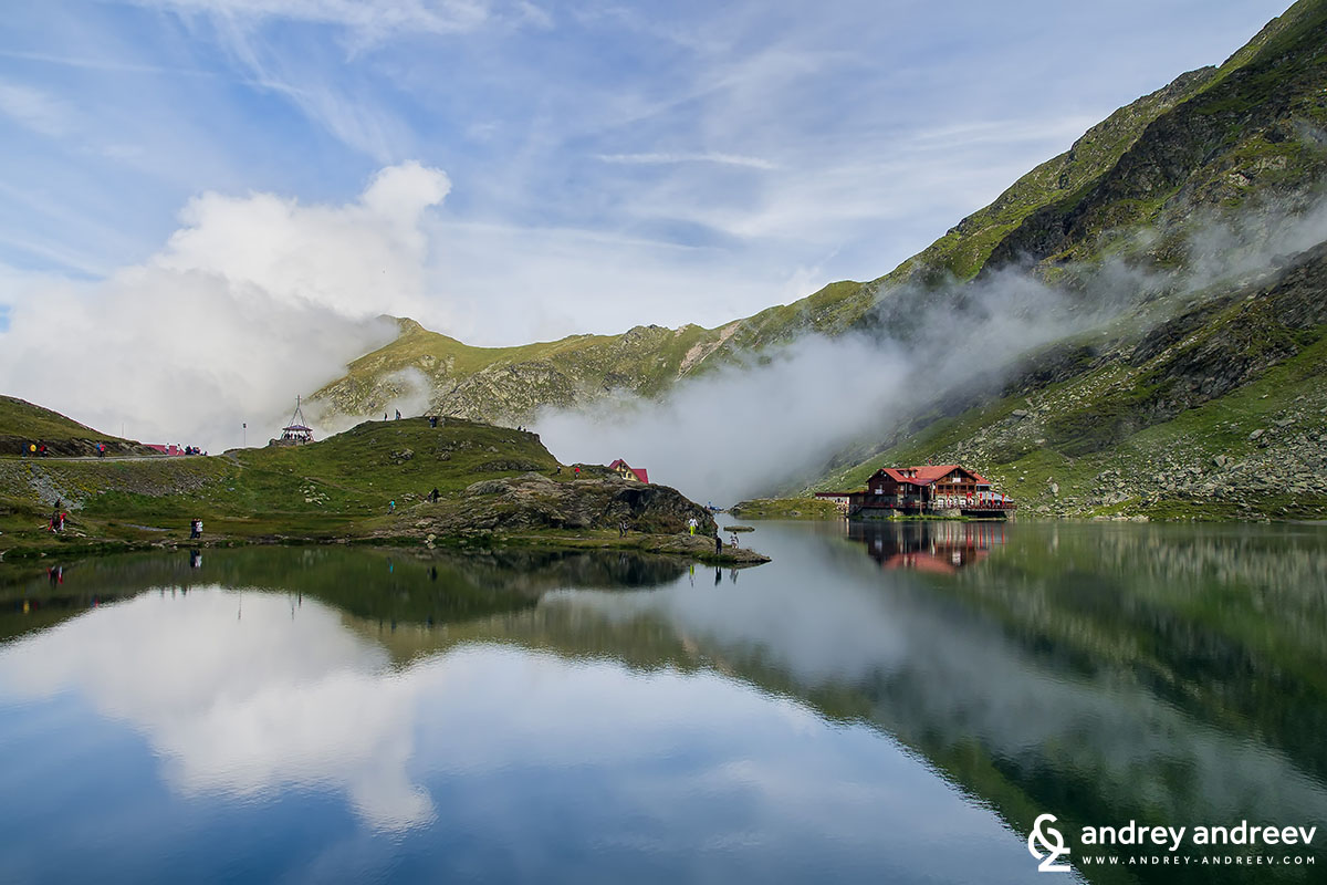 Balea lake in Romania