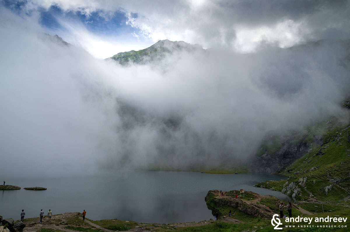 Clouds above the Balea lake