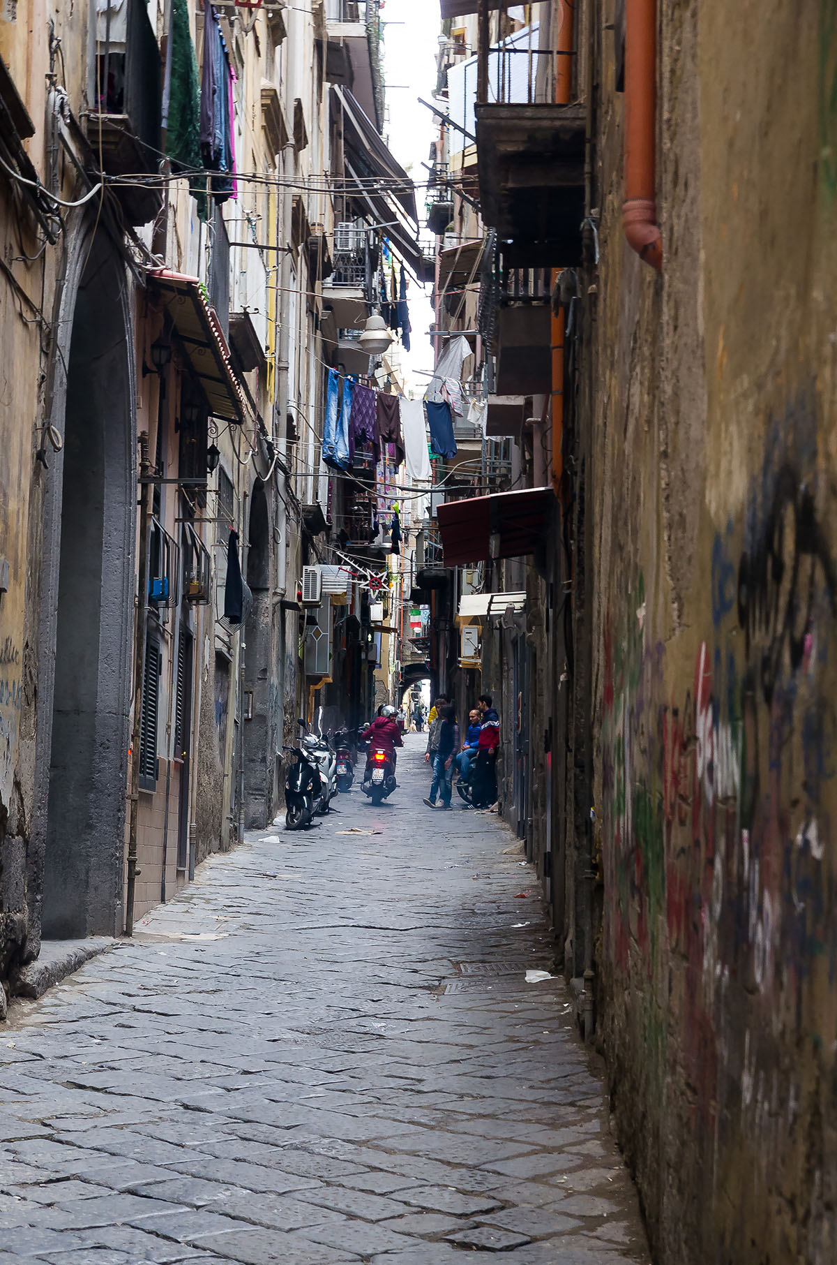 Streets in the historical centre of Naples