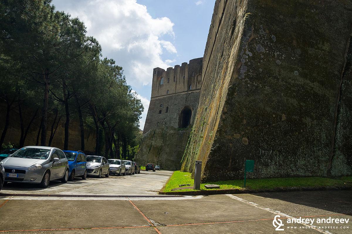 Castel Sant'Elmo walls, Naples, Italy