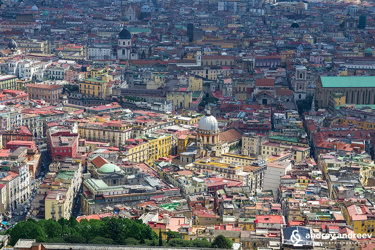 Гледка на Неапол от Castel Sant'Elmo