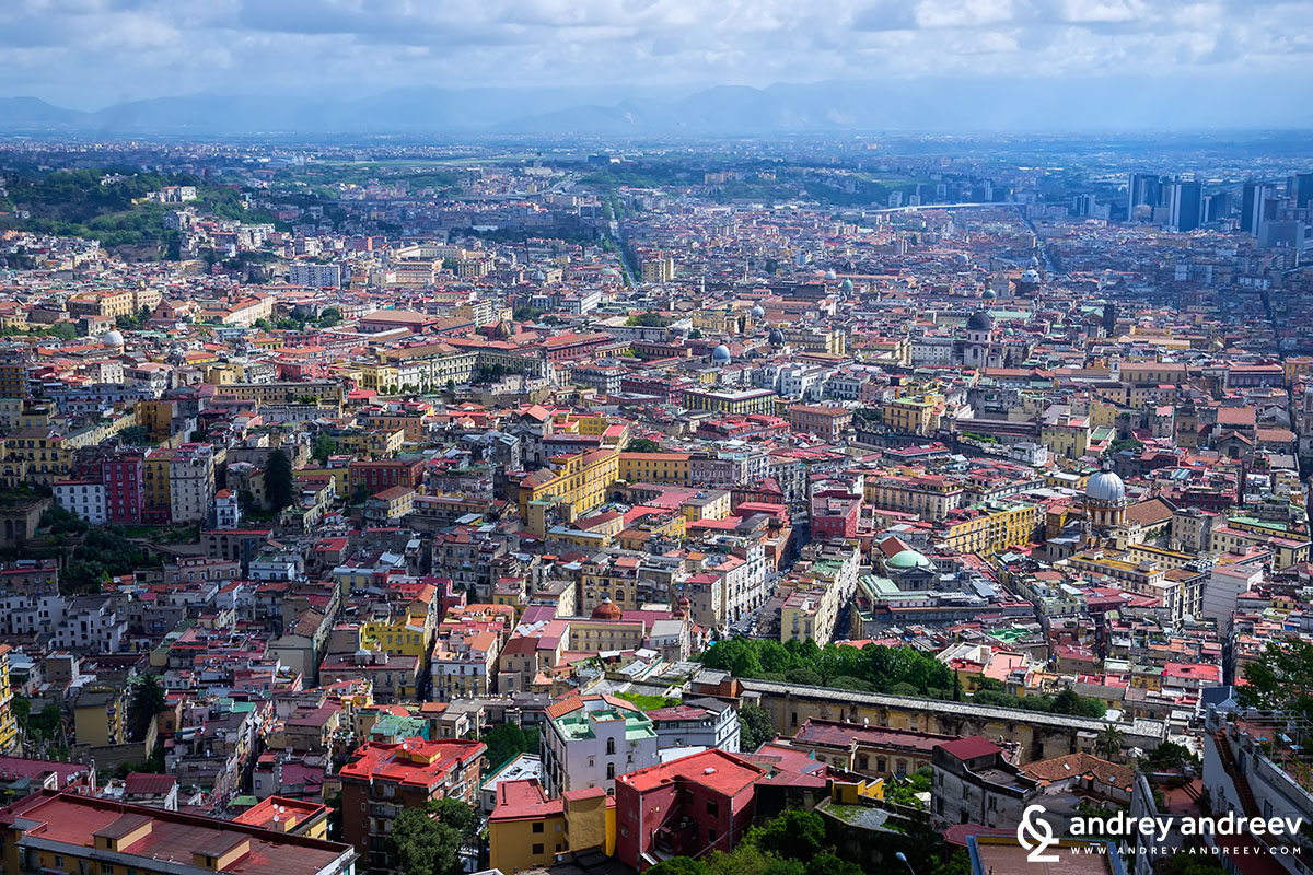 Naples, Italy from above