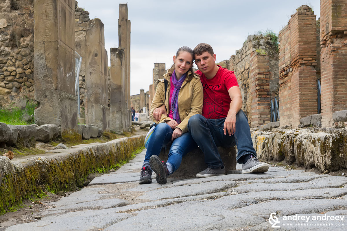 Andrey and Maria in Pompeii, Italy