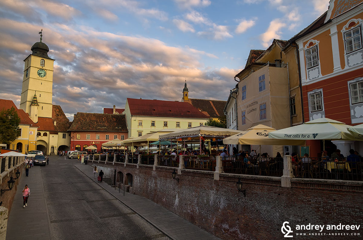 Small square of Sibiu, Romania