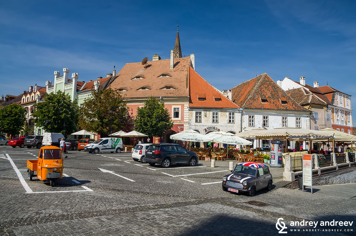 Small square in Sibiu