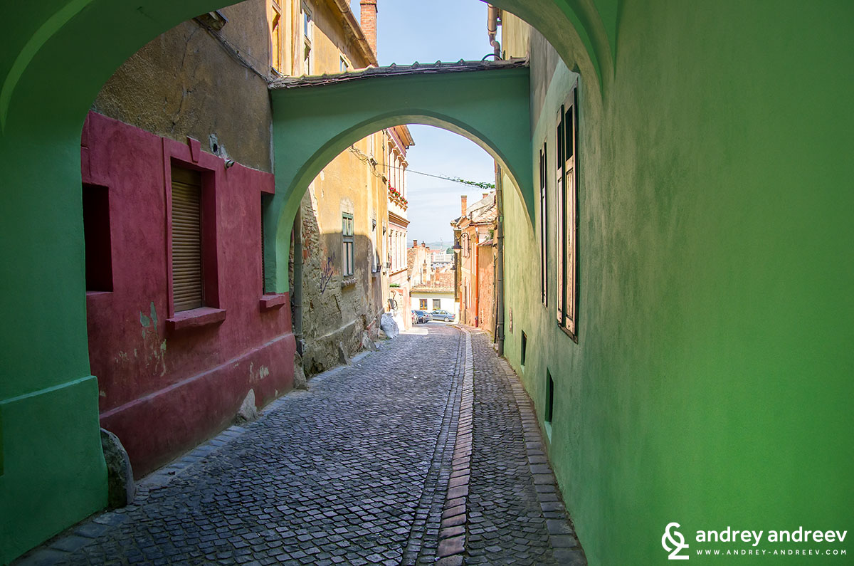 The lower town of Sibiu, Romania