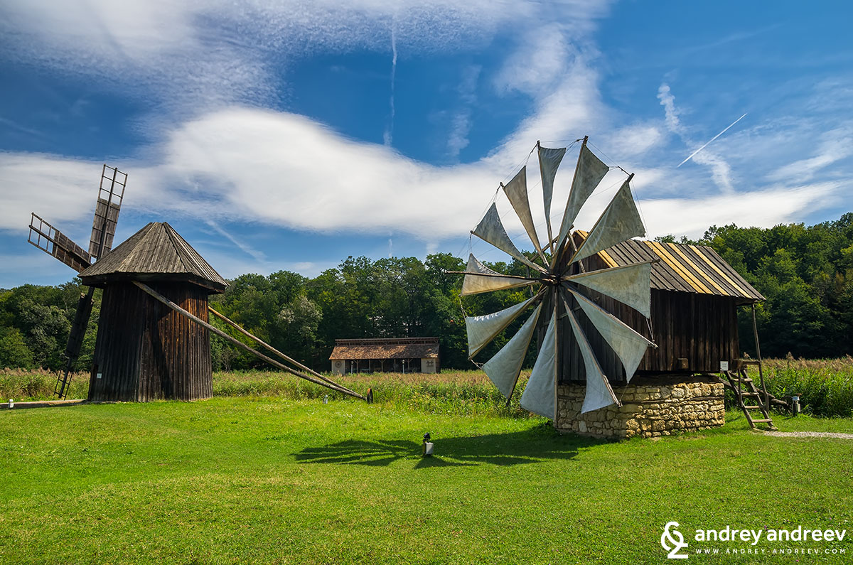 Windmill at ASTRA museum in Sibiu, Romania