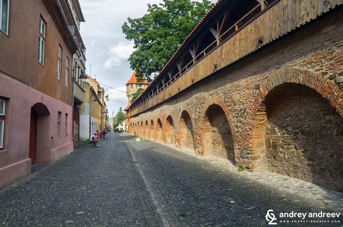 Fortification walls in Sibiu Romania