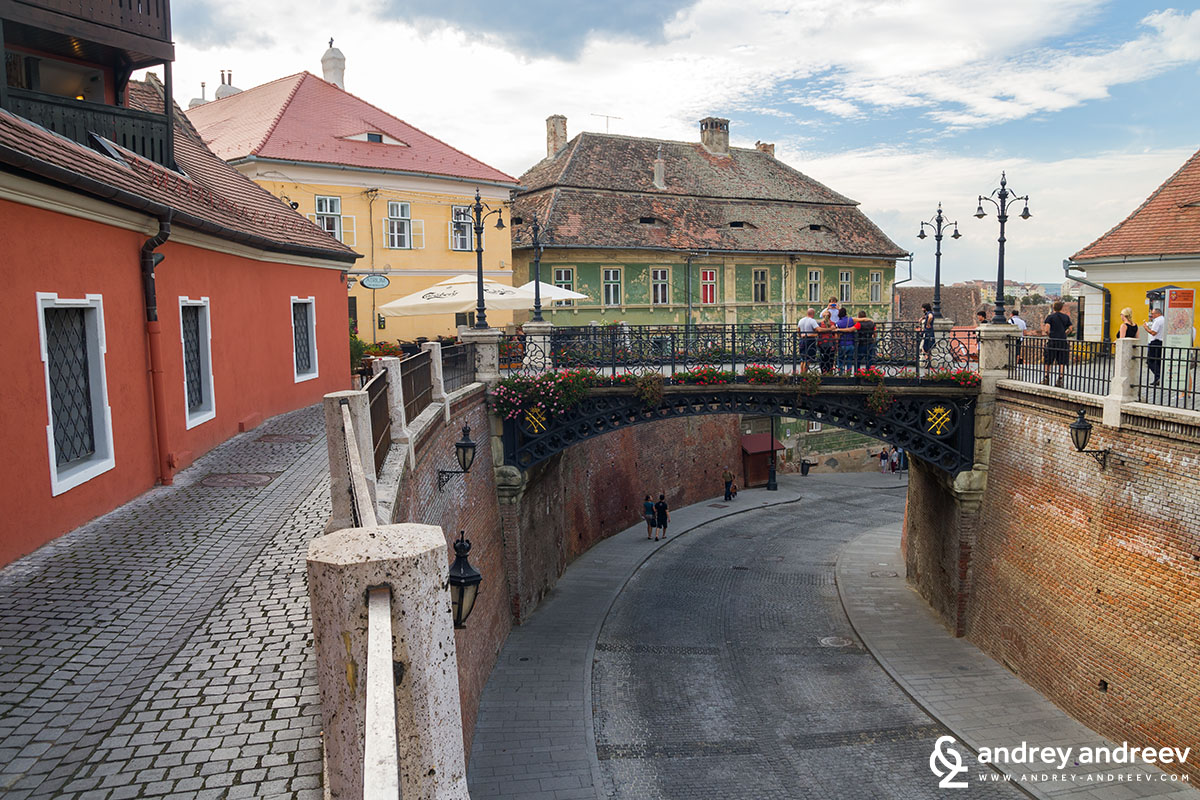 The bridge of Lies in Sibiu, Romania