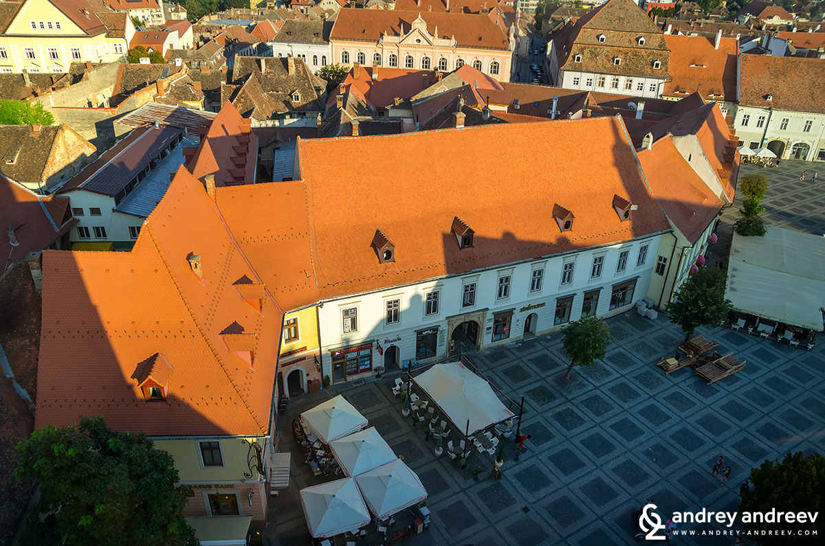 View of Sibiu, Romania, from the Council tower