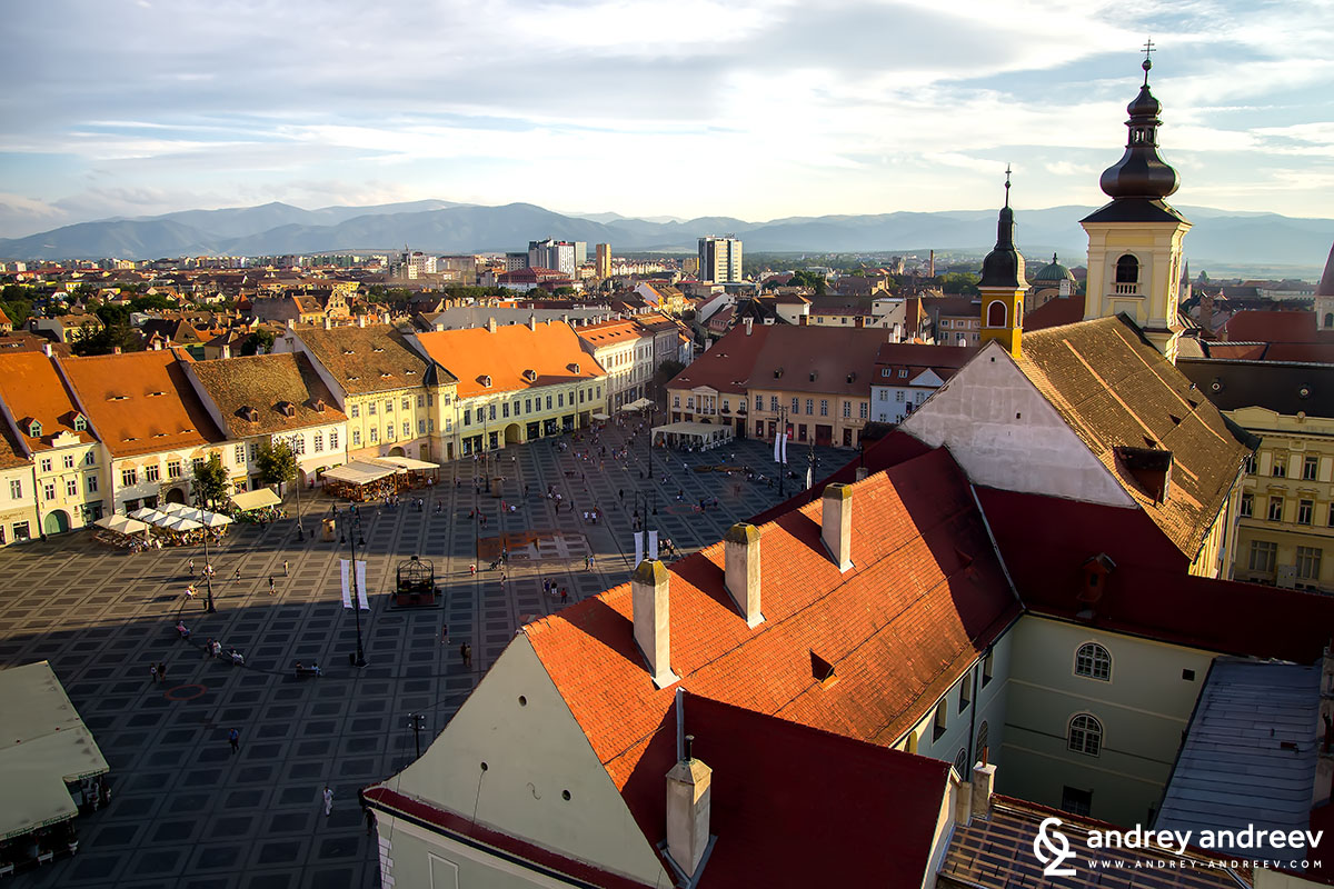 Grand square at Sibiu, Romania