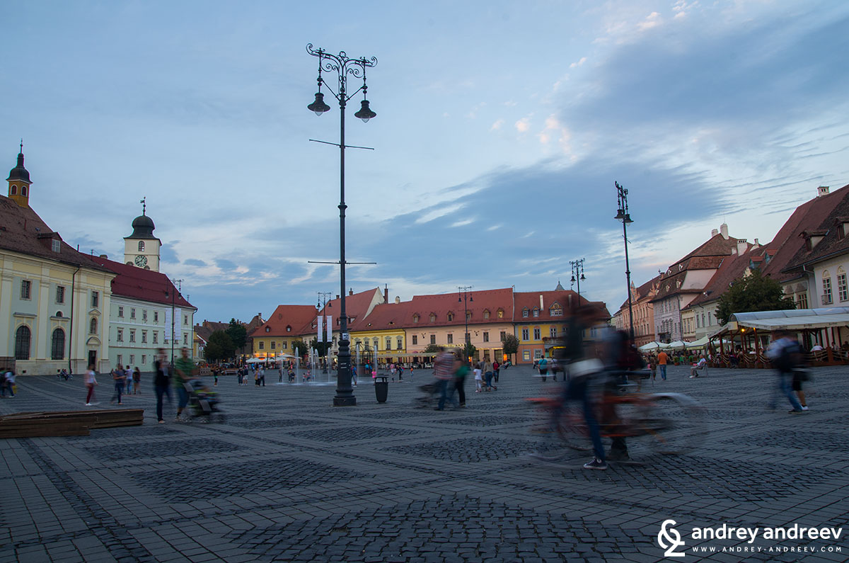 Grand square of Sibiu, Romania