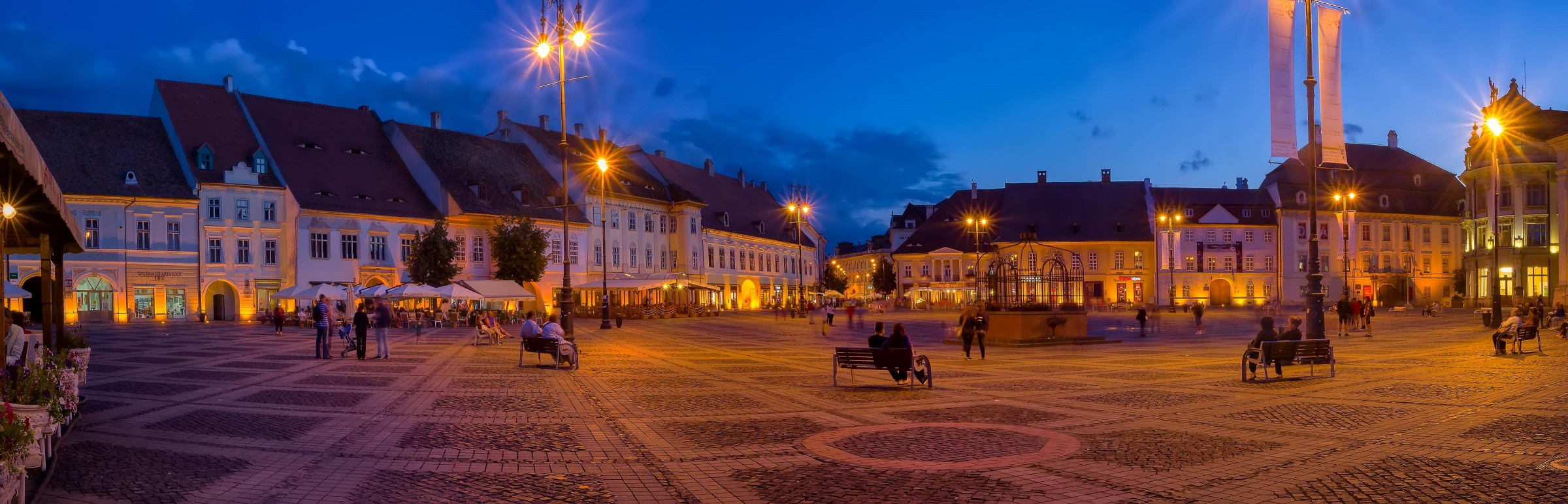 The Grand Square (Piata Mare) of Sibiu, Romania