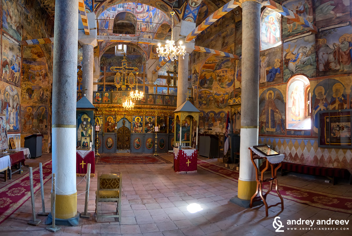 Inside the church of Sukovo Monastery