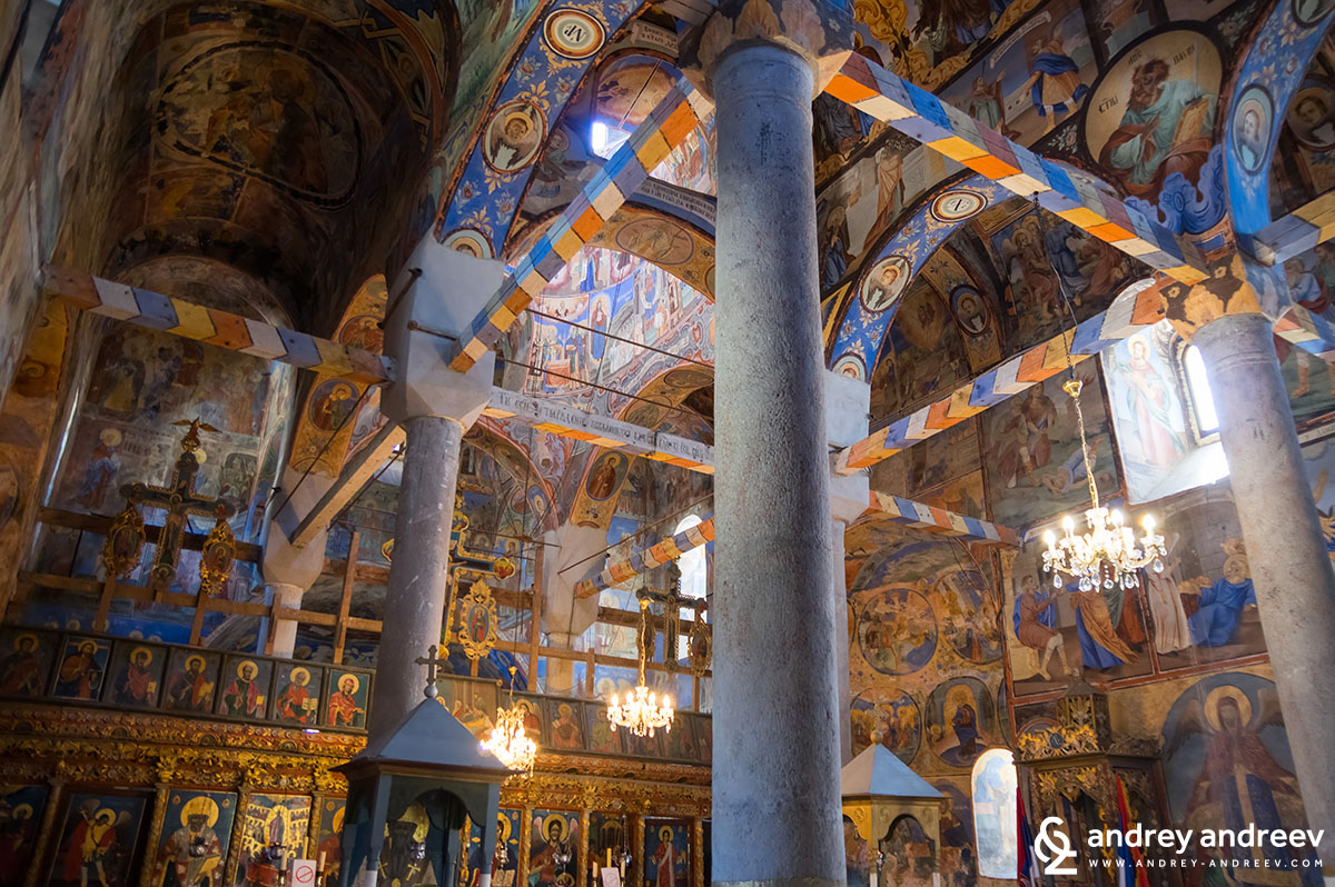 Inside the church of Sukovo Monastery, Serbia