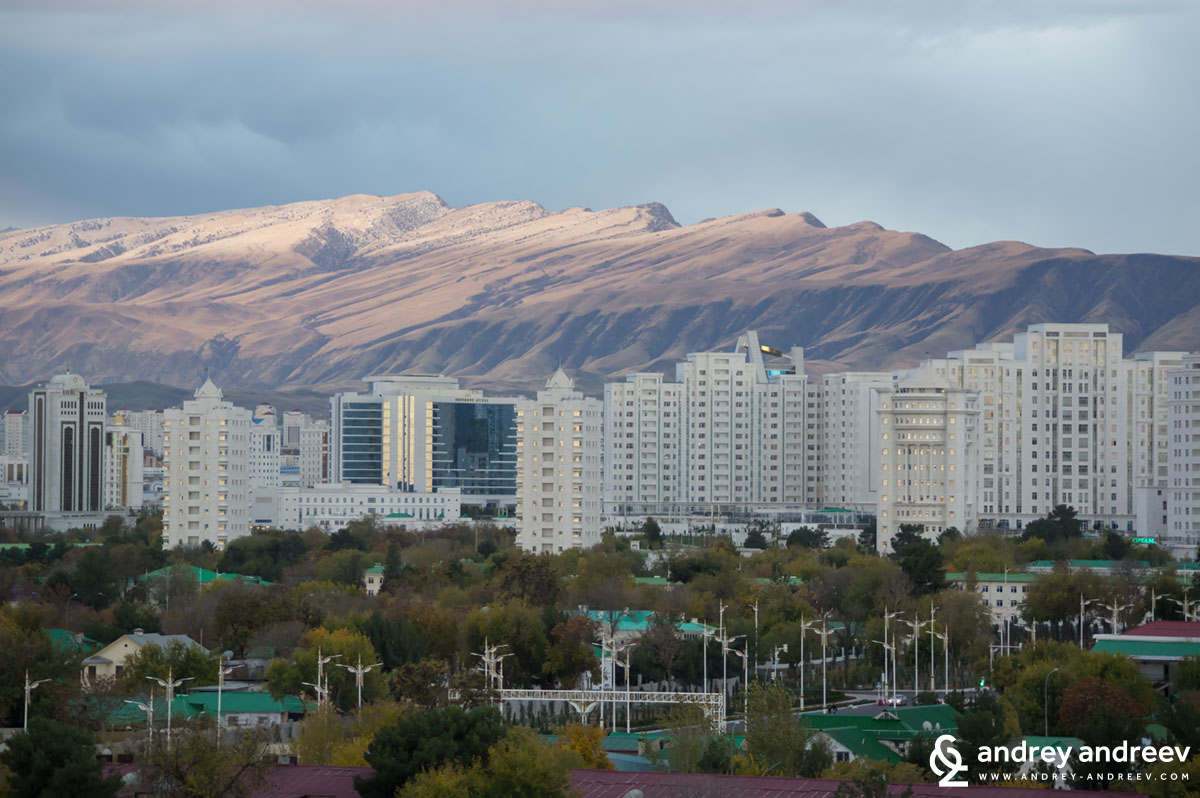 New parts of Ashgabat, Turkmenistan