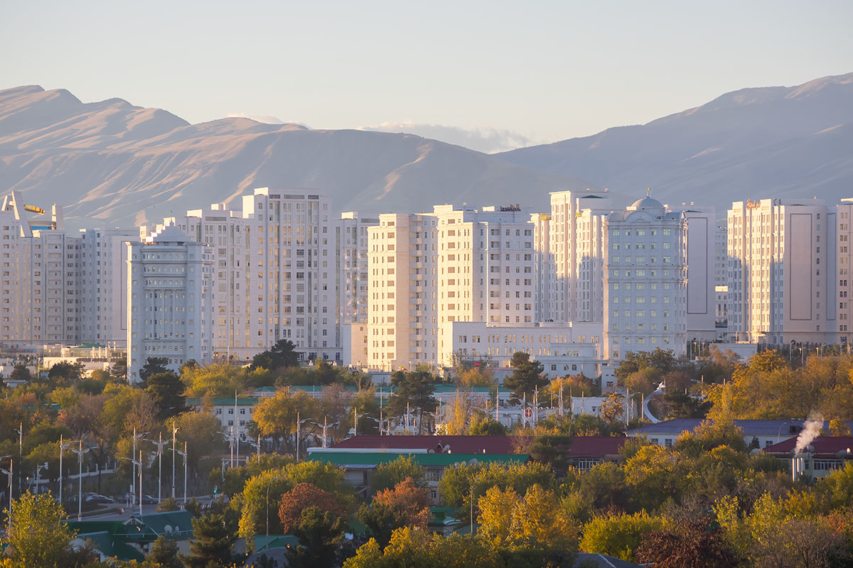 New buildings in Ashgabat, Turkmenistan