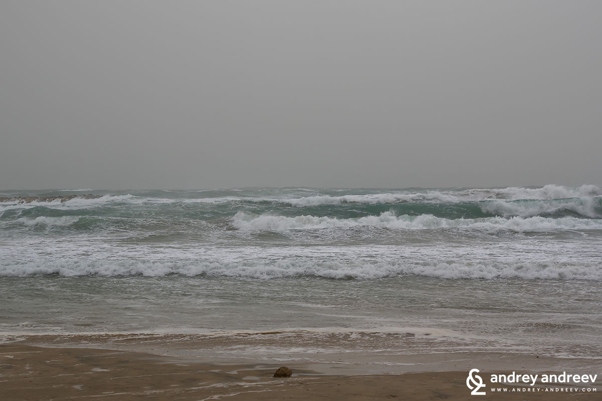 The storm Tel Aviv, Israel