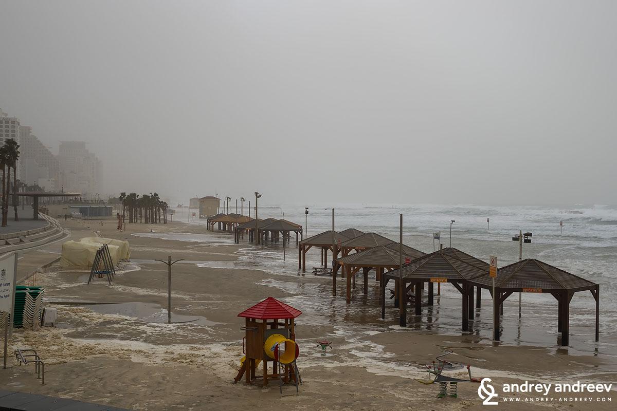 The storm Tel Aviv, Israel 2