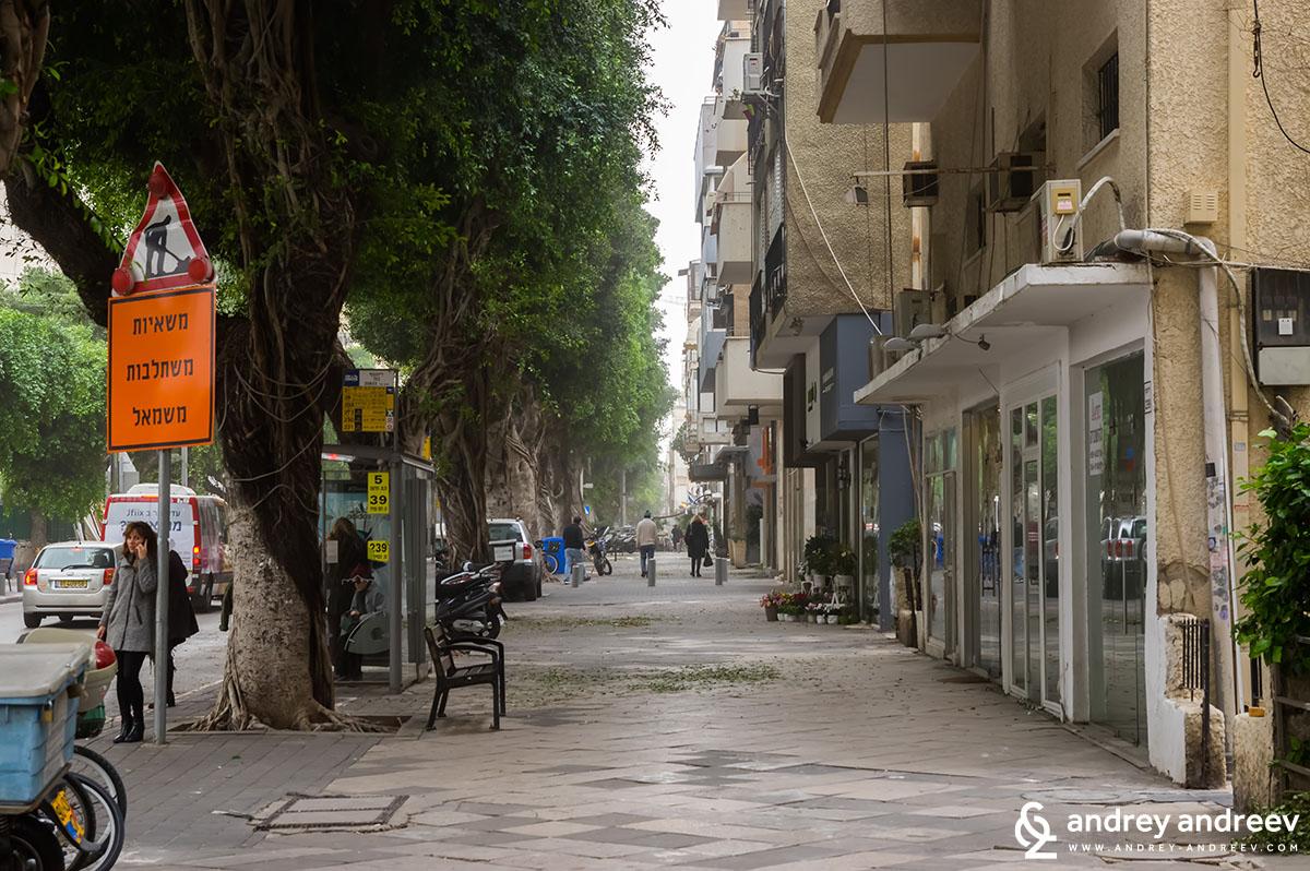Dizengoff street in Tel Aviv, Israel