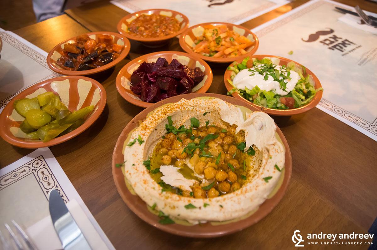 Hummus in Tel Aviv Israel