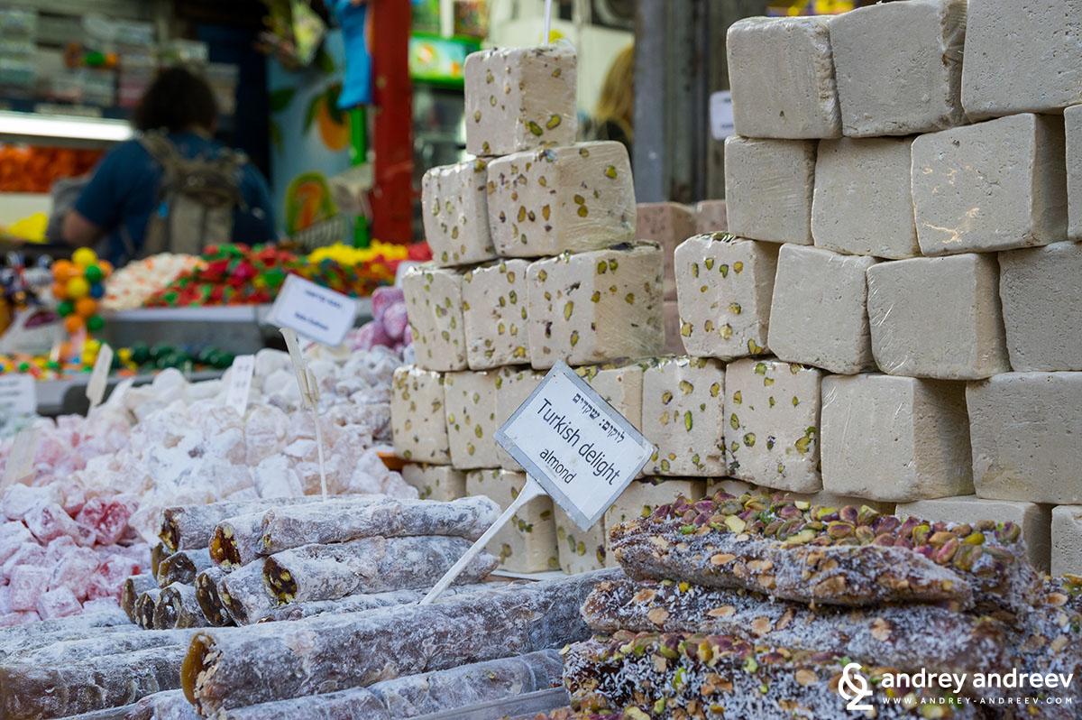 Delights at Carmel Market Tel Aviv, Israel