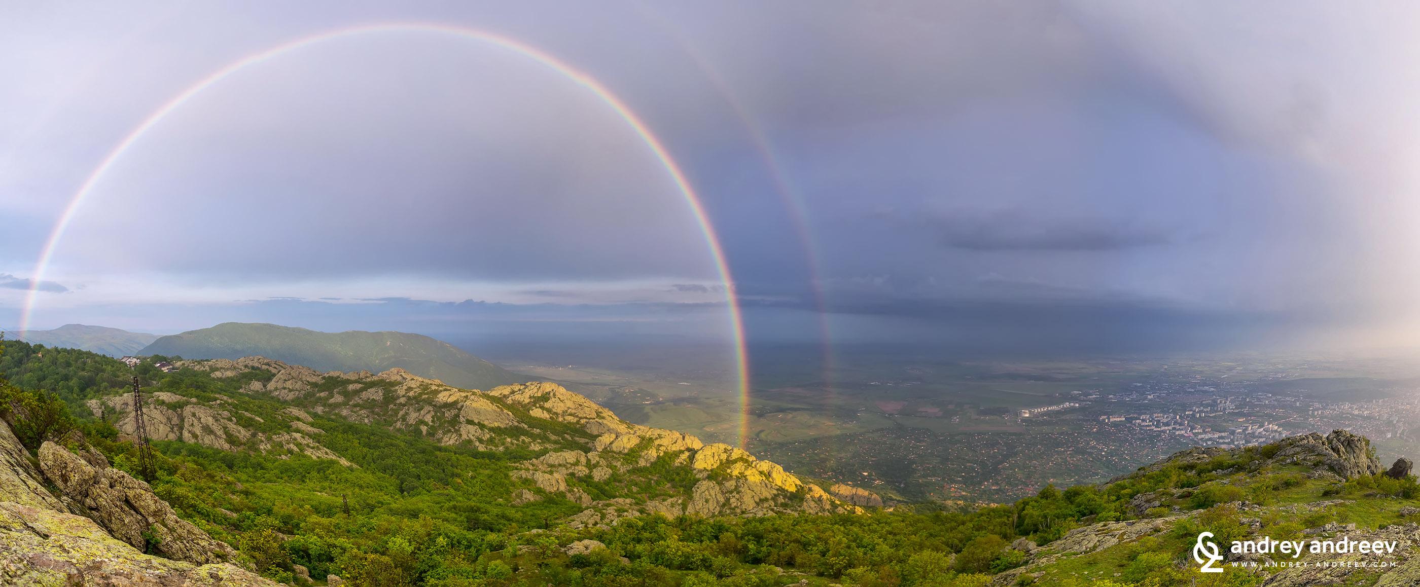 Rainbow above Sliven