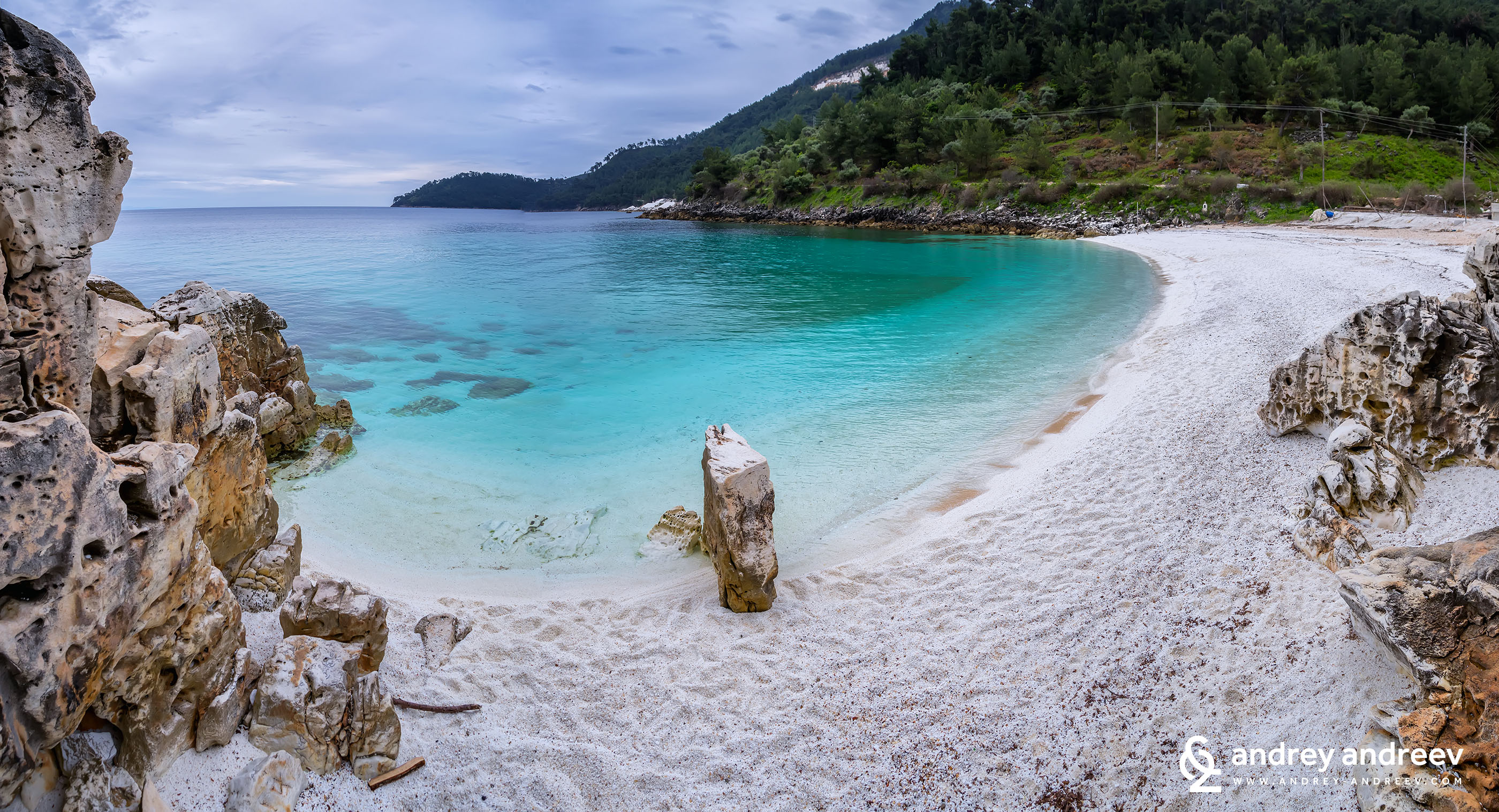 Marble beach (Saliara) - Thassos, Greece