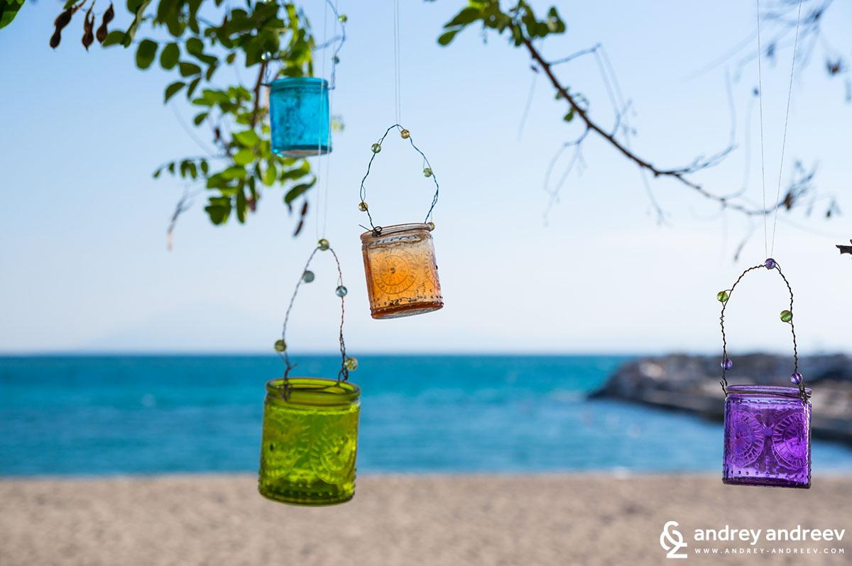 По плажа на Потос - стров Тасос, Гърция