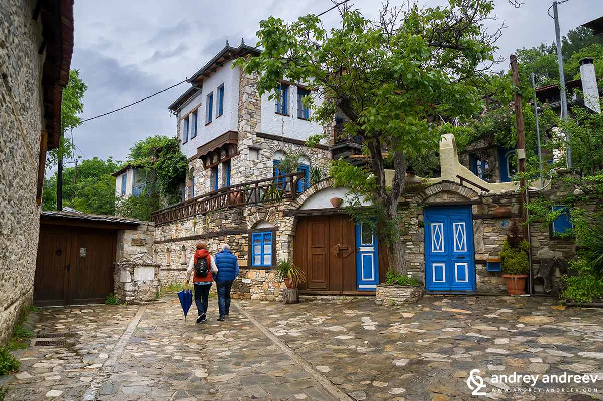 The rainy streets of Kazaviti village