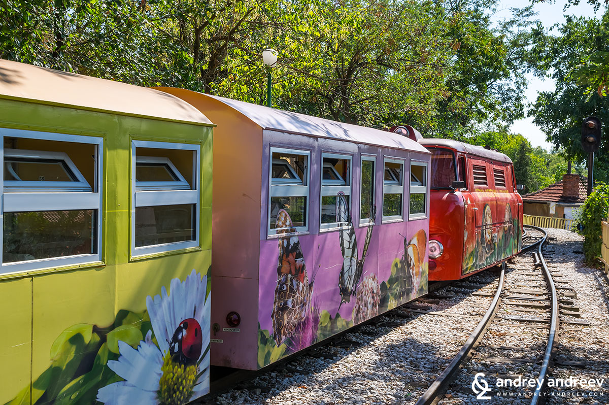The cute train for children in Plovdiv