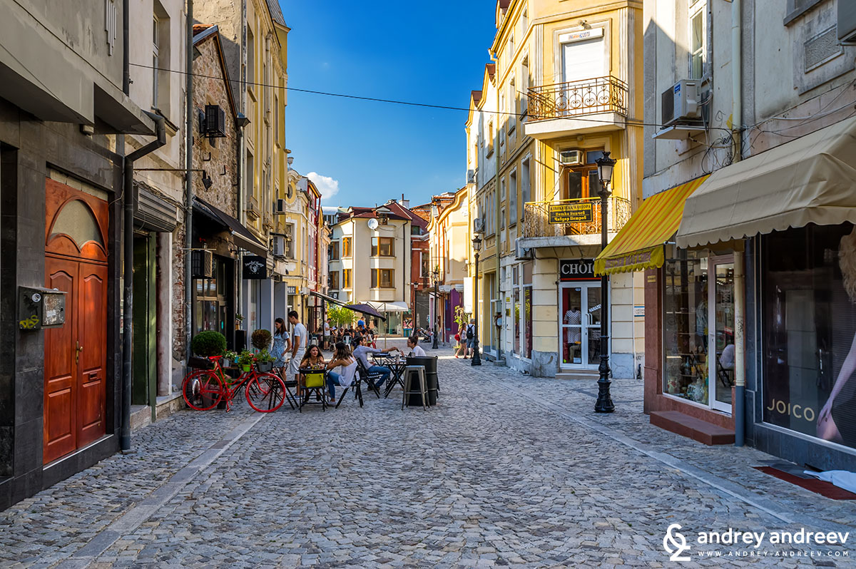 Streets in Kapana district, Plovdiv Bulgaria